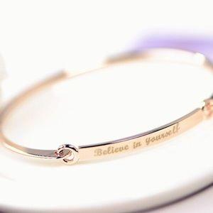 Jewelry - Believe In Yourself Bangle Bracelet Rose Gold